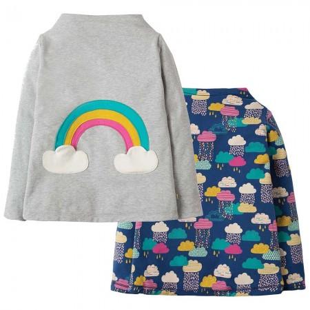 Frugi Rainbow Rita Reversible Top