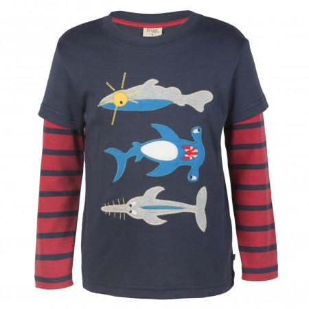 Frugi Sharks Look Out Top