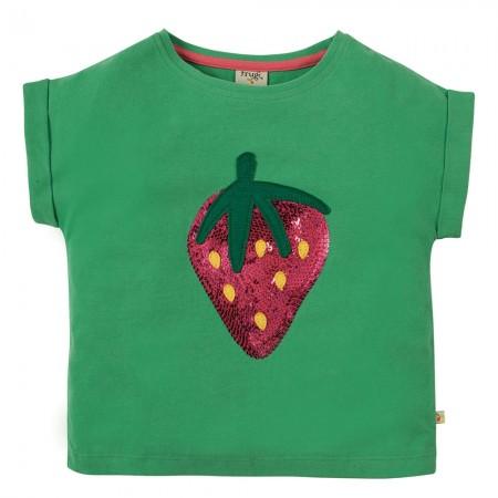 Frugi Strawberry Bella Sequin T-Shirt