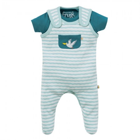 Frugi Blue Stripe Pelican Summer Gift Set