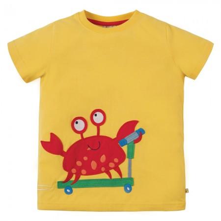 Frugi Crab James Applique T-Shirt