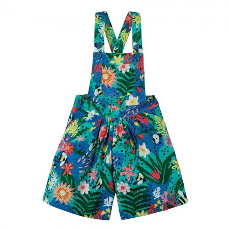 Frugi Hothouse Floral Culotte Dungarees