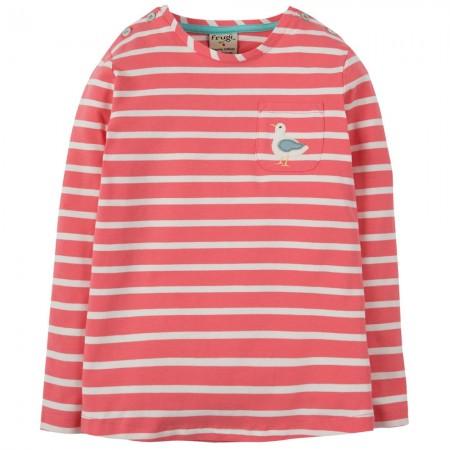 Frugi Seagull Layla Stripe Top