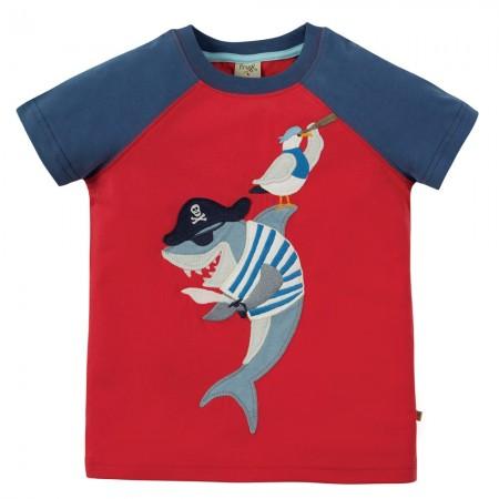 Frugi Shark Raglan T-Shirt