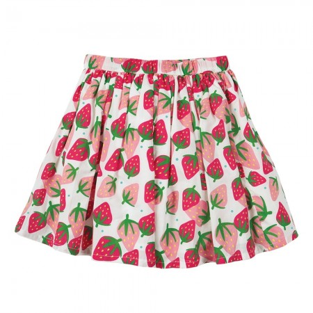 Frugi Scilly Strawberries Fiona Full Skirt