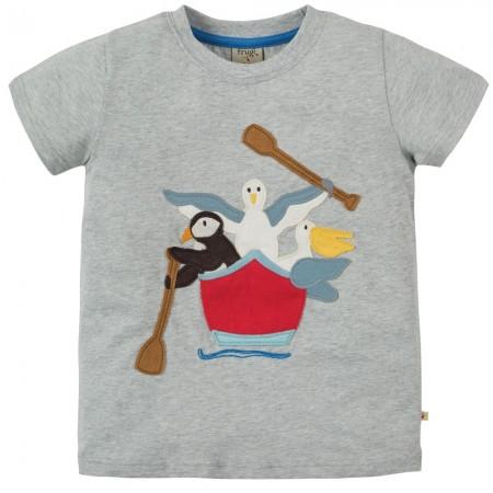 Frugi Gig Boat Stanley Applique T-Shirt