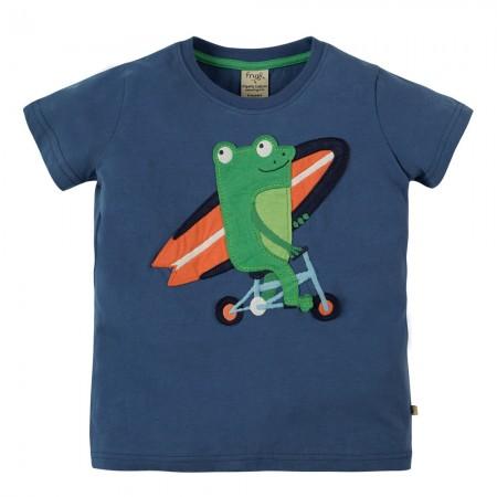 Frugi Stanley Applique Frog T-Shirt