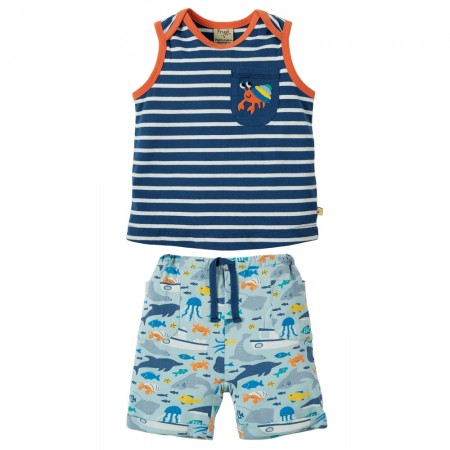 Frugi Hermit Crab Summertime Top & Shorts
