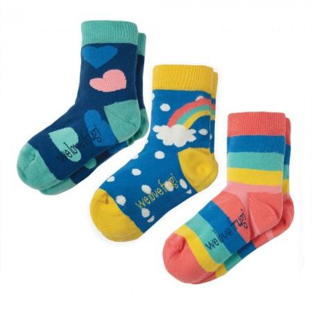 Frugi Rainbow Susie Socks x3