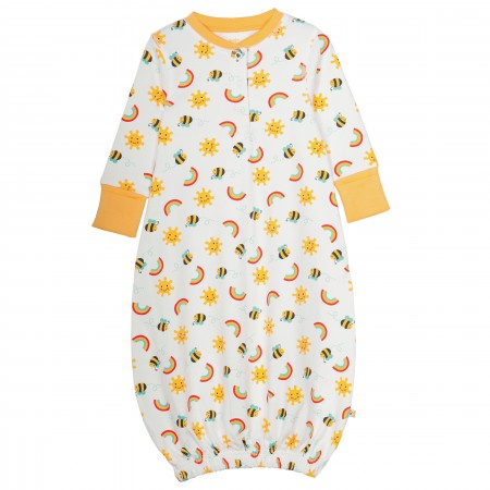 Frugi Lovely Gown - Sunny Buzzy Bee