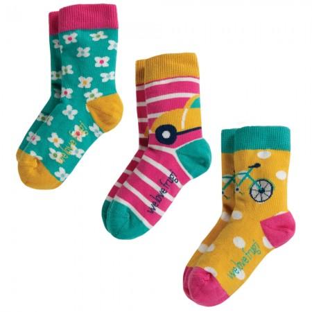 Frugi Transport Susie Socks 3 Pack