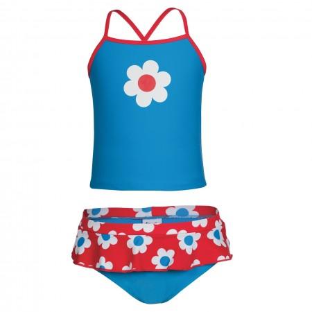 Frugi Trevose Tankini Set, Diver Blue/Flower