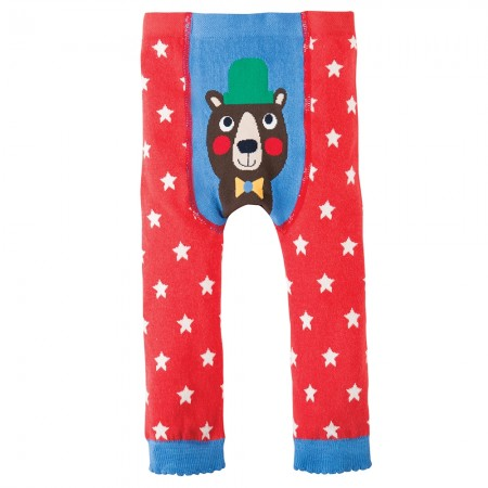 Frugi Bear Little Knitted Leggings