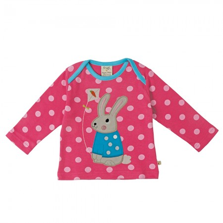 Frugi Bunny Bobby Applique Top