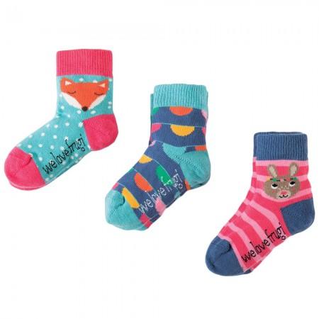 Frugi Bunny Little Socks 3-Pack