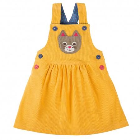 Frugi Cat Doris Dungaree Dress