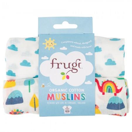 Frugi Clouds & Dinos Lovely Muslins x2
