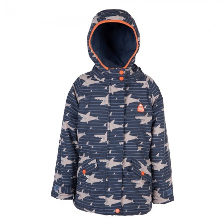 Frugi Explorer Shark Shoal Waterproof Coat