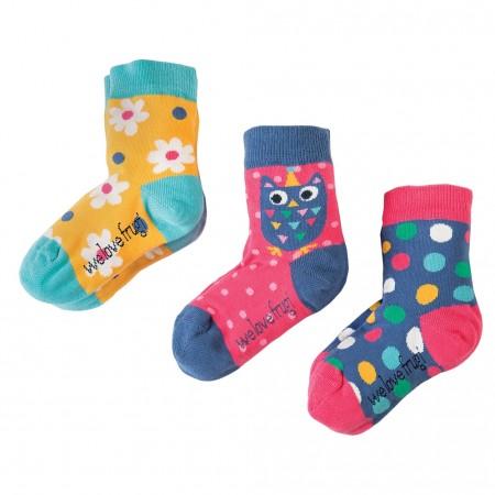 Frugi Flower Susie Socks 3-Pack