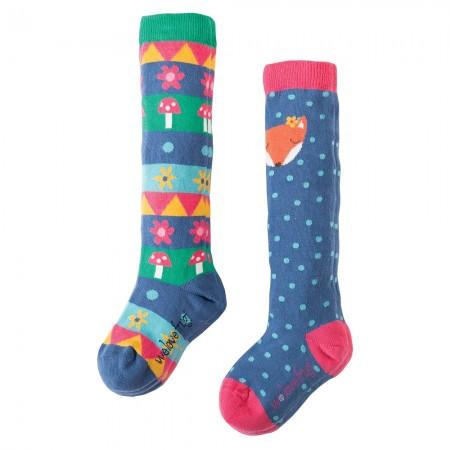 Frugi Fox Pippi Long Socks 2-Pack