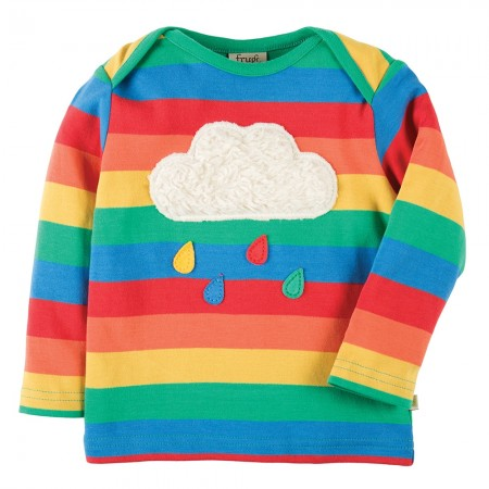 Frugi Rainbow Cloud Bobby Applique Top