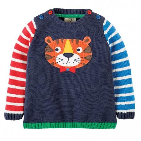 Frugi Tiger Jack Knitted Jumper