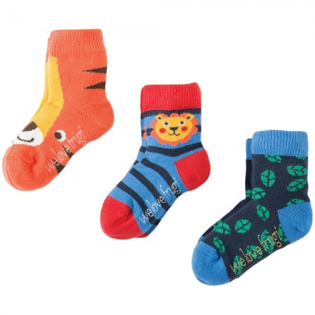 Frugi Tiger Little Socks 3-Pack