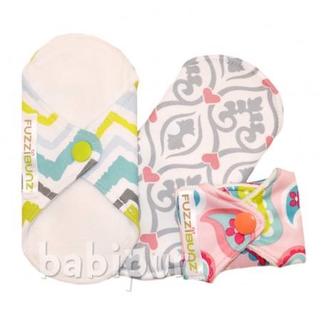 FuzziBunz Panty Liner Comfort Pads - 3 Pack