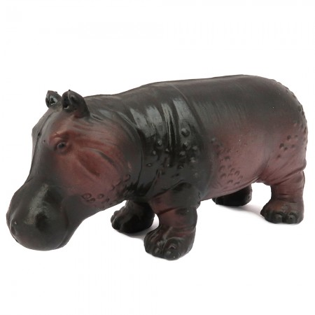 Green Rubber Toys Hippopotamus