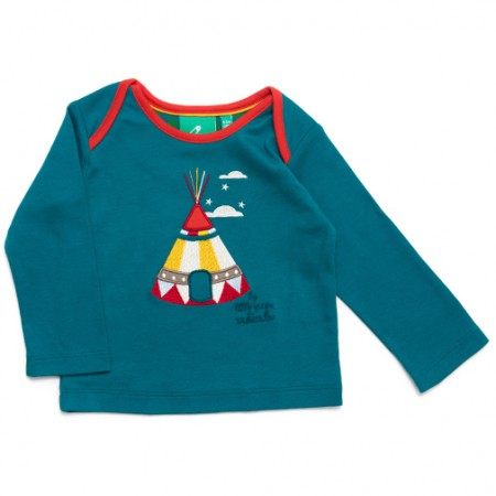 LGR Stars & Teepees Green Baby Top