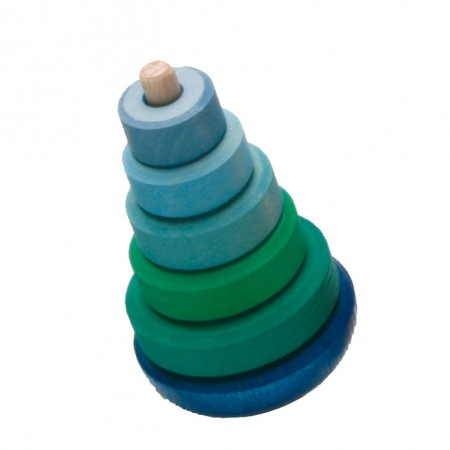Grimm's Green & Blue Wobble Stacking Tower