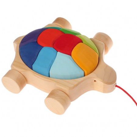 Grimm's Rainbow Turtle Pull Along