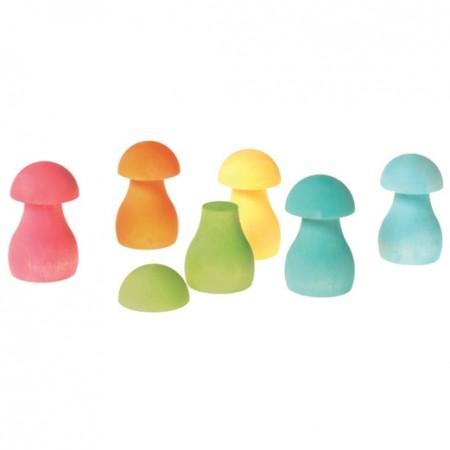 Grimm's Pastel Mushrooms Sorting Game
