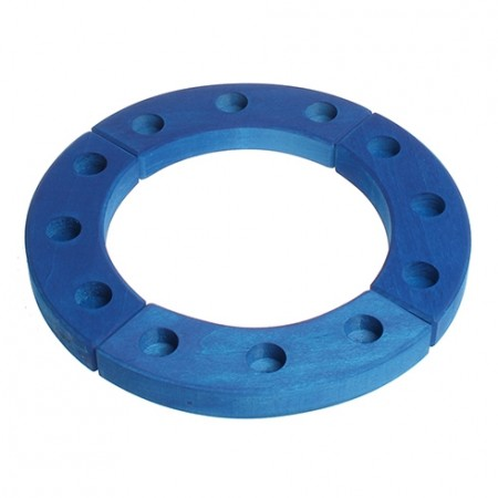 Grimm's 12-Hole Blue Wooden Ring