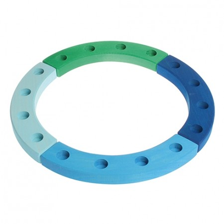 Grimm's 16-Hole Blue - Green Wooden Ring