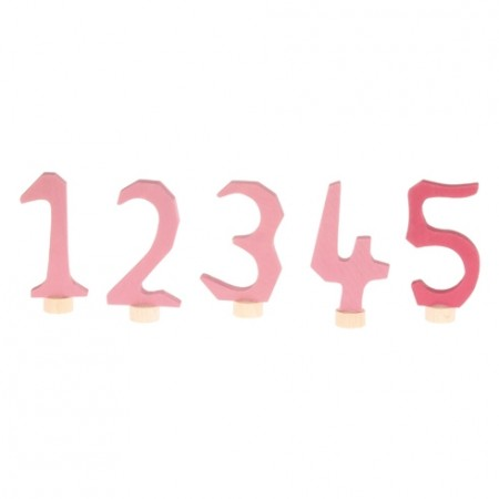 Grimm's Decorative Numbers Set 1-5 - Pink