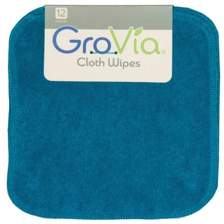 12 GroVia Cloth Wipes - Abalone