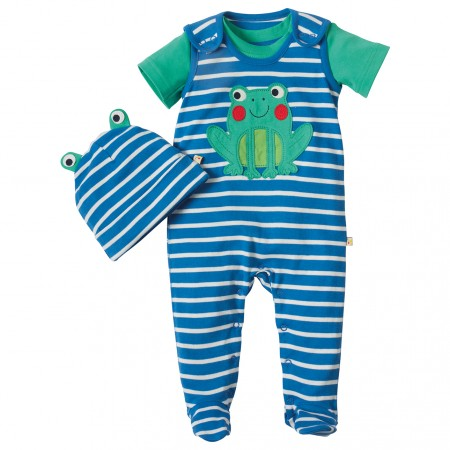 Frugi Frog Snuggle Baby Gift Set