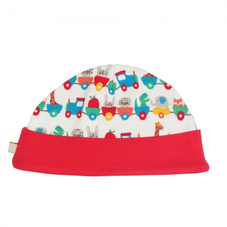 Frugi Alphabet Train Lovely Hat