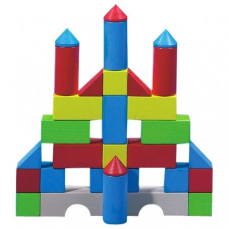 Haba Colourful Wooden Play Building Blocks 1076
