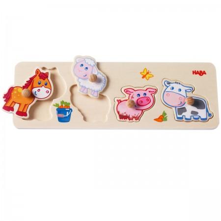 Haba Baby Farm Animals Puzzle