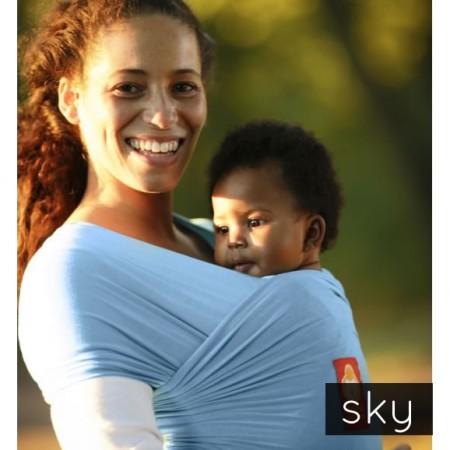 Hana Organic Baby Wrap- Shorty-Sky
