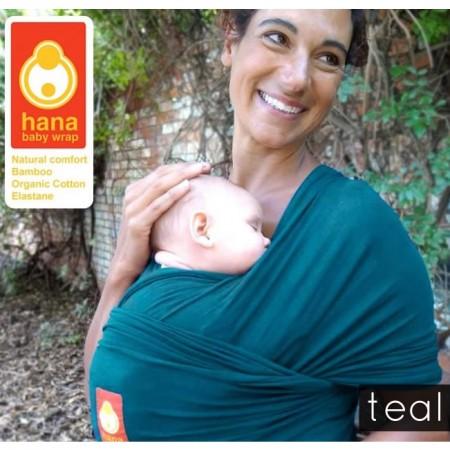 Hana Organic Baby Wrap- Shorty-Teal