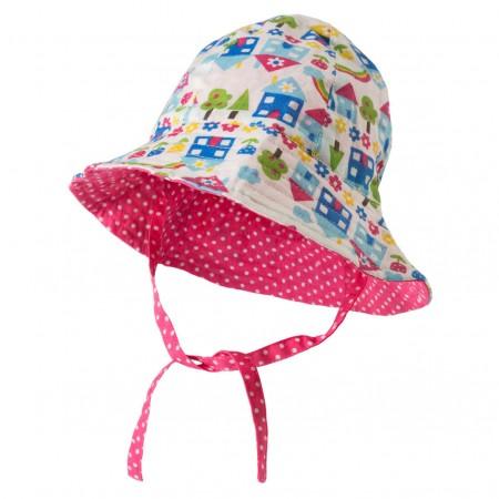 Frugi Happy Houses Reversible Hat