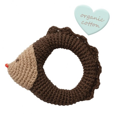 Peppa Crochet Hedgehog Rattle