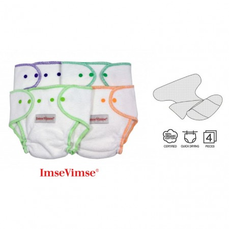 ImseVimse Terry Nappy 4 Pack One-size