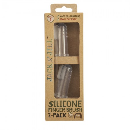 Jack N' Jill Silicone Finger Brush 2 Pack - Stage 1 (6-18 months)