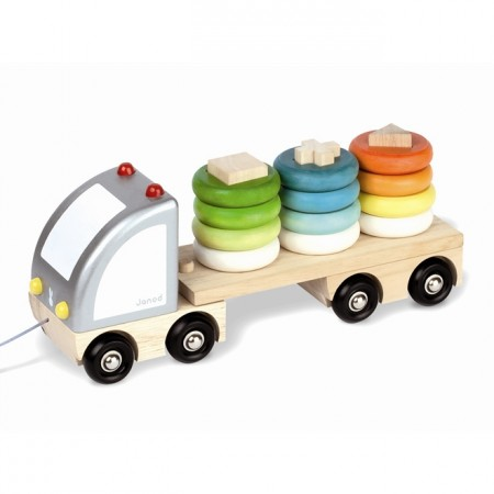 Janod Multi-Colour Sorting Truck