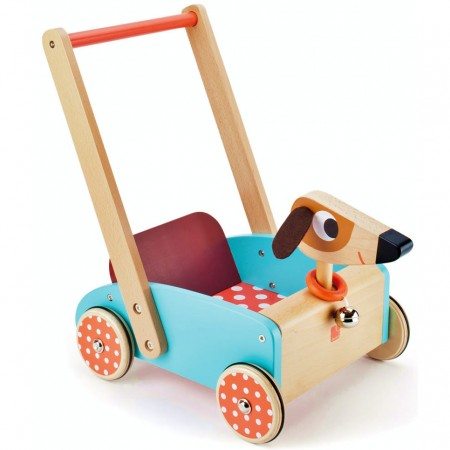 Janod Crazy Doggy Cart Baby Walker
