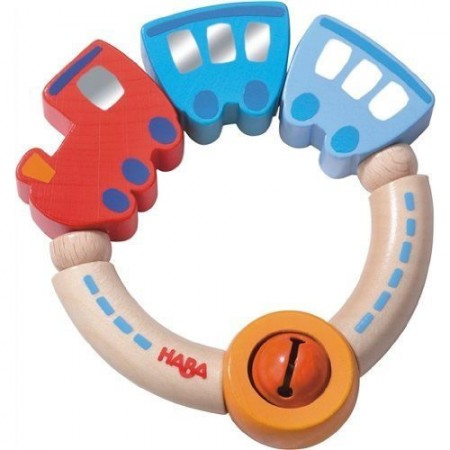Haba Wooden Jingle Train Clutching Toy